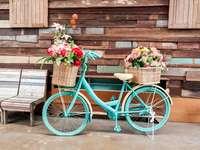 Stary rower w roli kwietnika