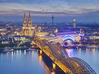 Katedra i most w Kolonii (Niemcy)