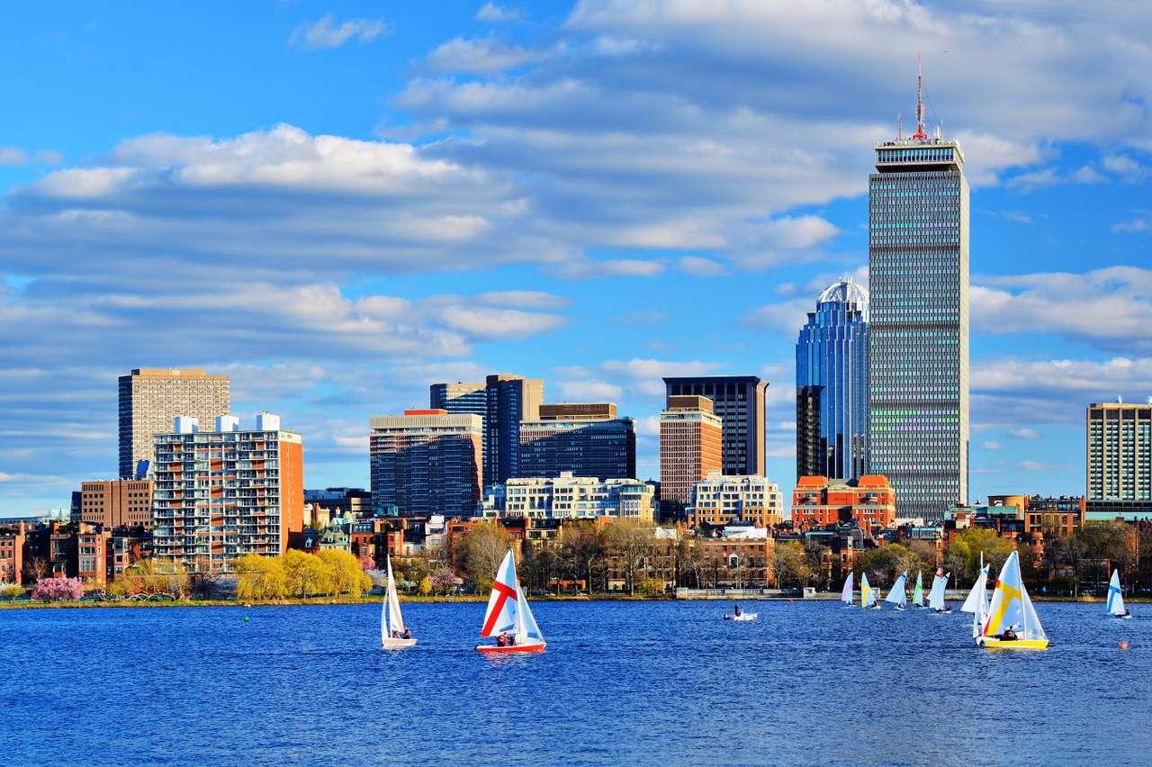 Panorama Bostonu (USA) - Boston to duże miasto położone na Wschodnim Wybrzeżu Stanów Zjednoczonych i stolica Massachusetts. Osada w tym miejscu została założona już w pierwszej połowie XVII wieku, a jej mieszkańcy (8×6)