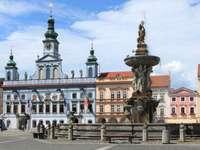 Fontanna Samsona w Czeskich Budziejowicach (Czechy)