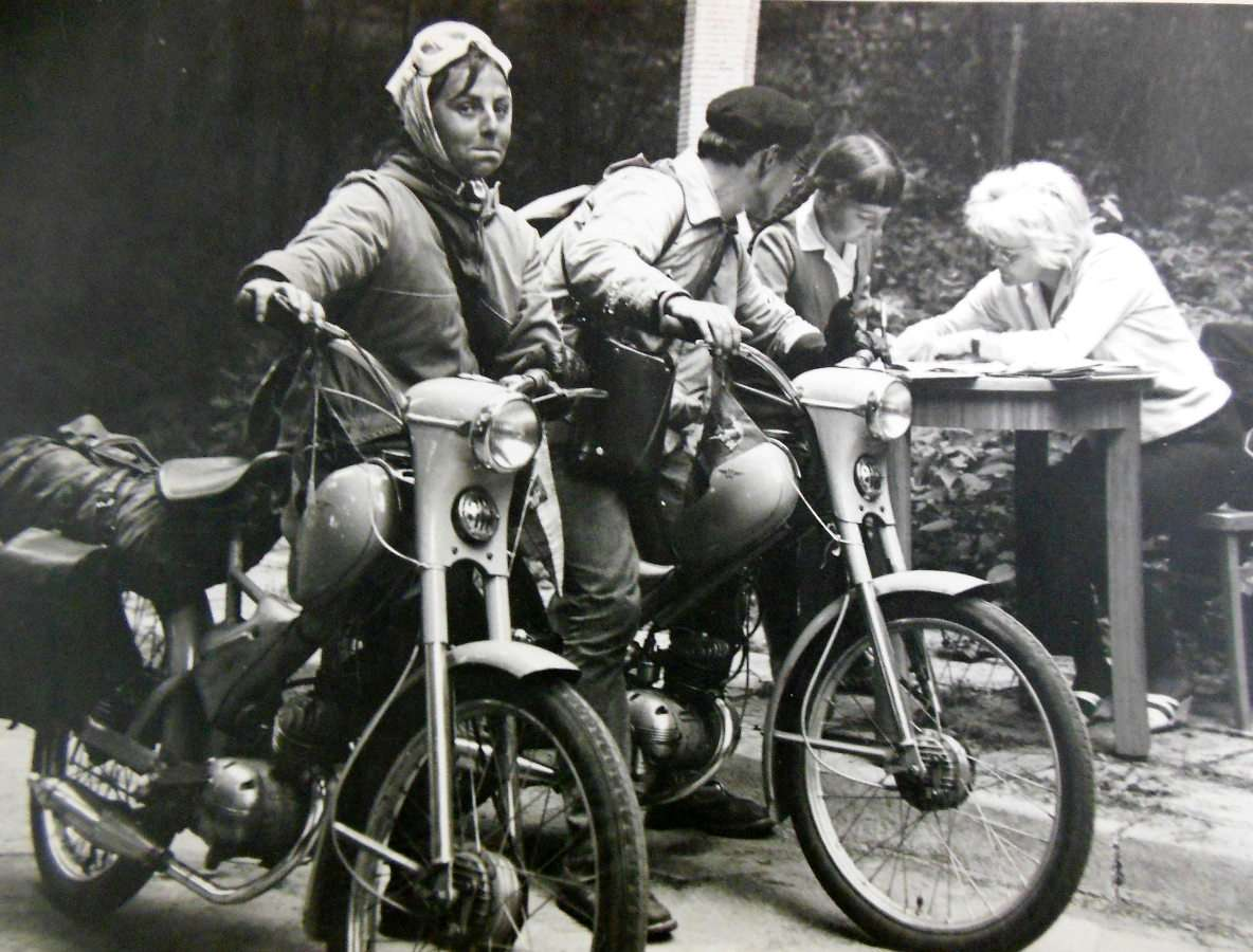 Międzynarodowy wyścig rowerowy w Olsztynie - Międzynarodowy wyścig rowerowy, zorganizowany przez PTTK (Polskie Towarzystwo Turystyczno – Krajoznawcze) – lata '60 XX wieku (8×6)