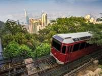Zabytkowy tramwaj na Wzgórzu Wiktorii (Chiny)