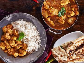 Indyjskie curry z ryżem basmati
