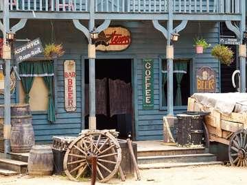 Bar w stylu saloonu z Dzikiego Zachodu