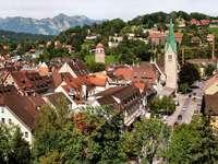 Widok na Feldkirch (Austria)