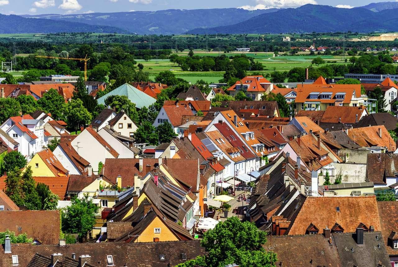 Dachy domów w Breisach nad Renem (Niemcy)