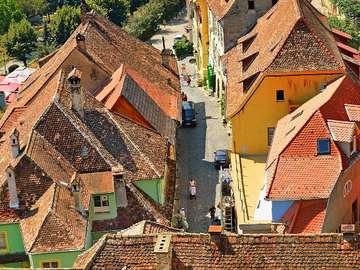 Widok miasteczka Sighisoara w Siedmiogrodzie (Rumunia)