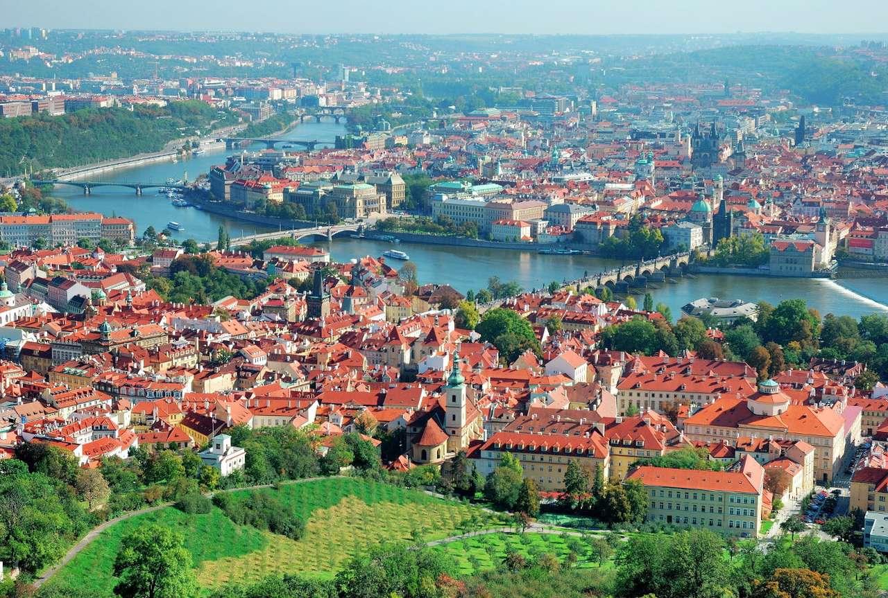 Panorama Pragi (Czechy)