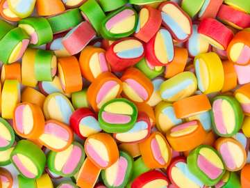 Różnobarwne cukierki
