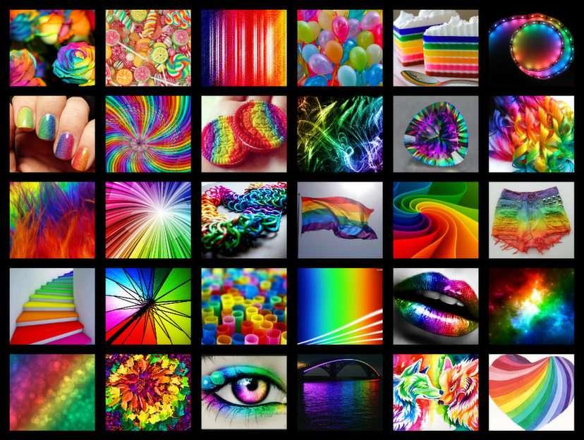 Tęczowo puzzle ze zdjęcia