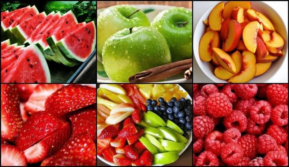 Owoce puzzle ze zdjęcia