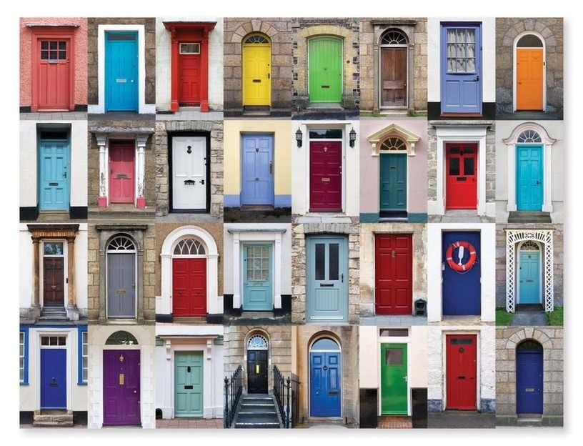 Drzwi puzzle ze zdjęcia