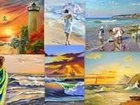 Nad morzem - malarstwo