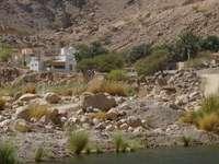 Wioska w górach Omanu