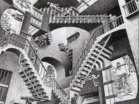 Teoria względności - M. C Escher