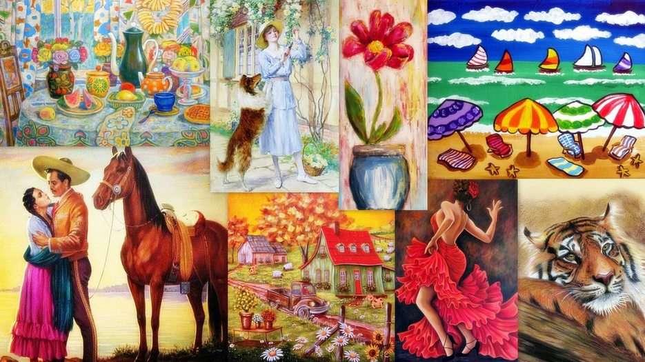 Malarstwo puzzle online