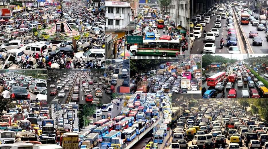 ruch uliczny w wielkim mieście