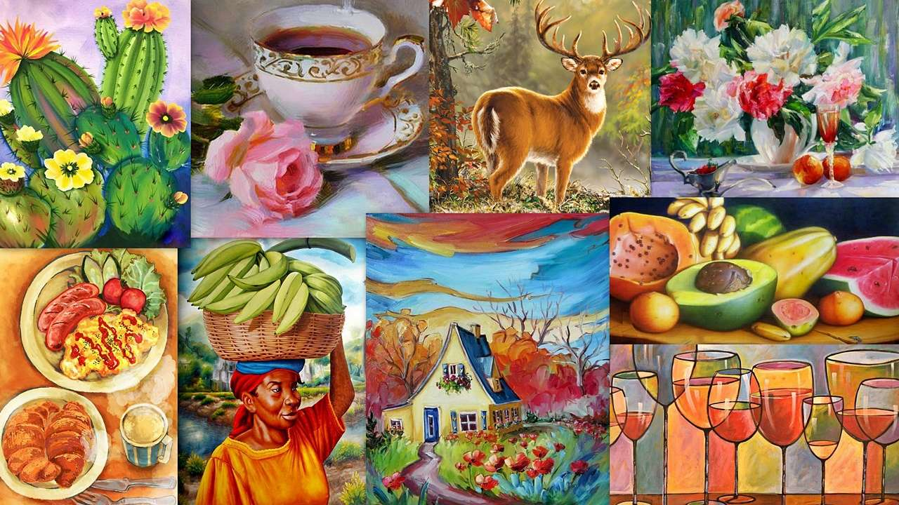 Malarski mix puzzle ze zdjęcia