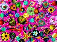 Kolorowy chaos puzzle ze zdjęcia