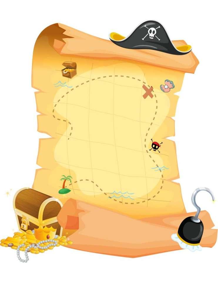 Mapa skarbów puzzle online