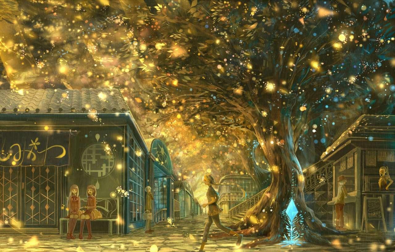 Światła drzew