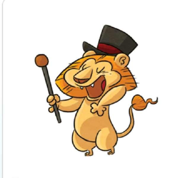 zabawny lew
