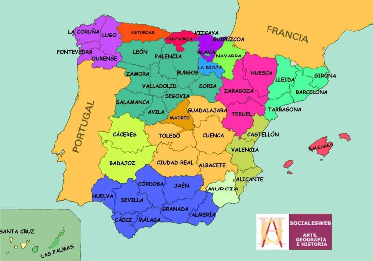 Mapa polityczna Hiszpanii puzzle