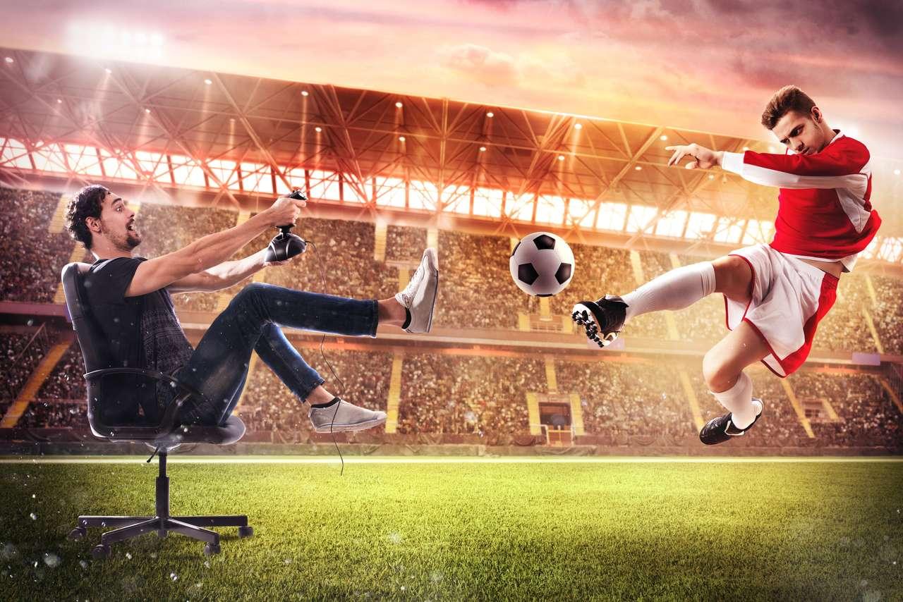 Piłka nożna w grach wideo puzzle