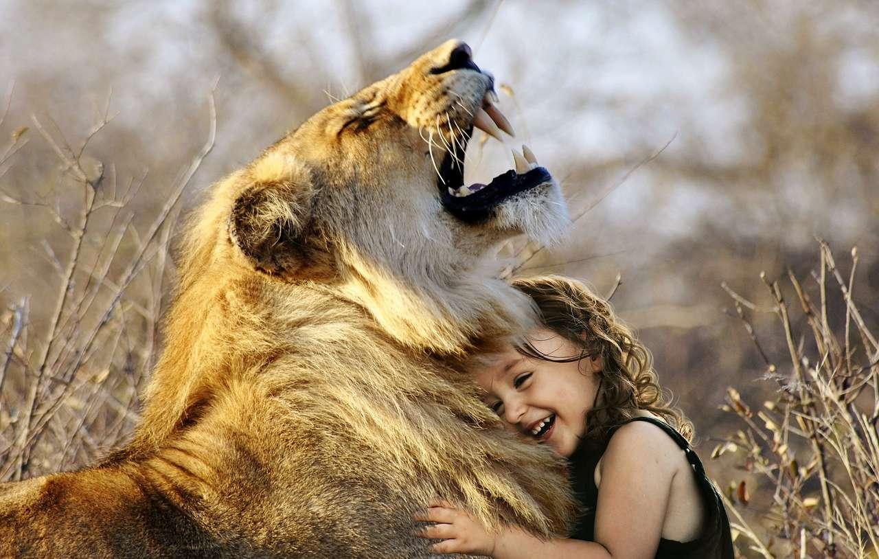 lew i dziewczynka