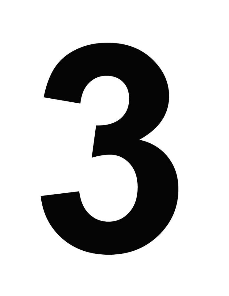 numer trzy