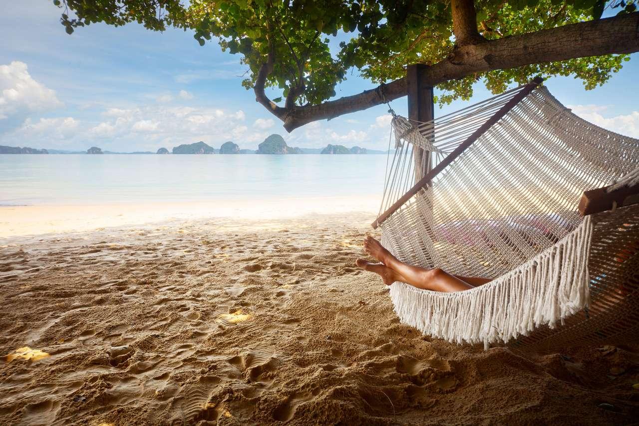 Ach... hamaczek na tropikalnej plaży