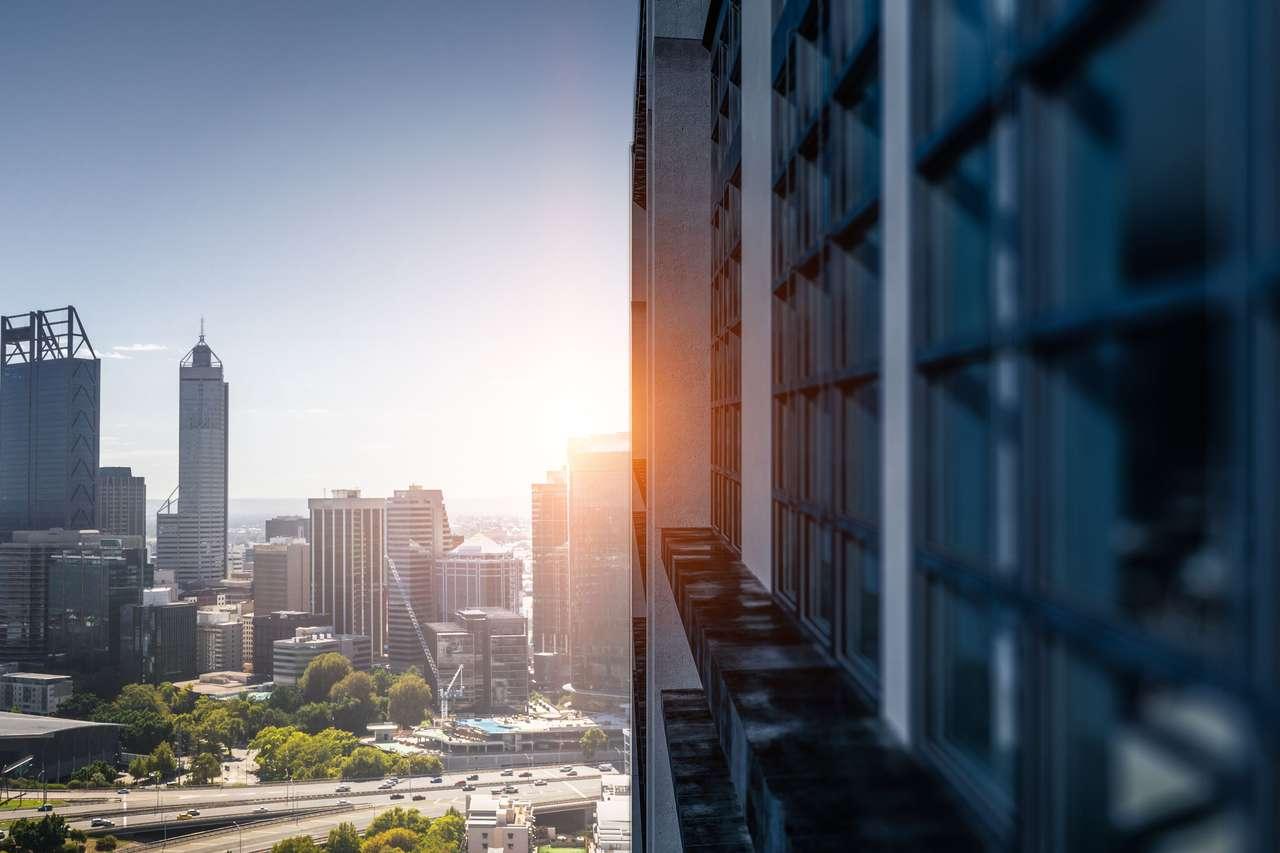 Panorama nowoczesnego miasta puzzle online