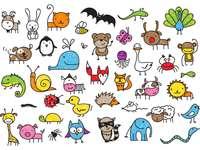 Zwierzątka puzzle ze zdjęcia