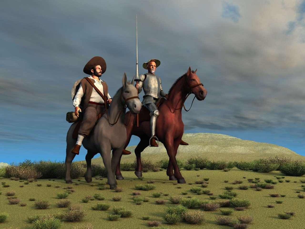 Mężczyźni na koniach