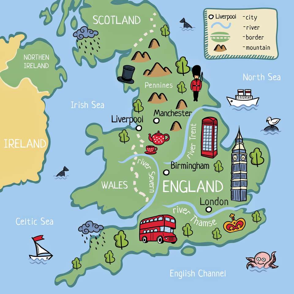 Mapa Londynu.