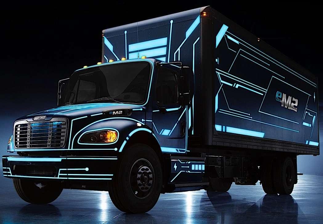Ciężarówka elektryczna Freightliner. puzzle