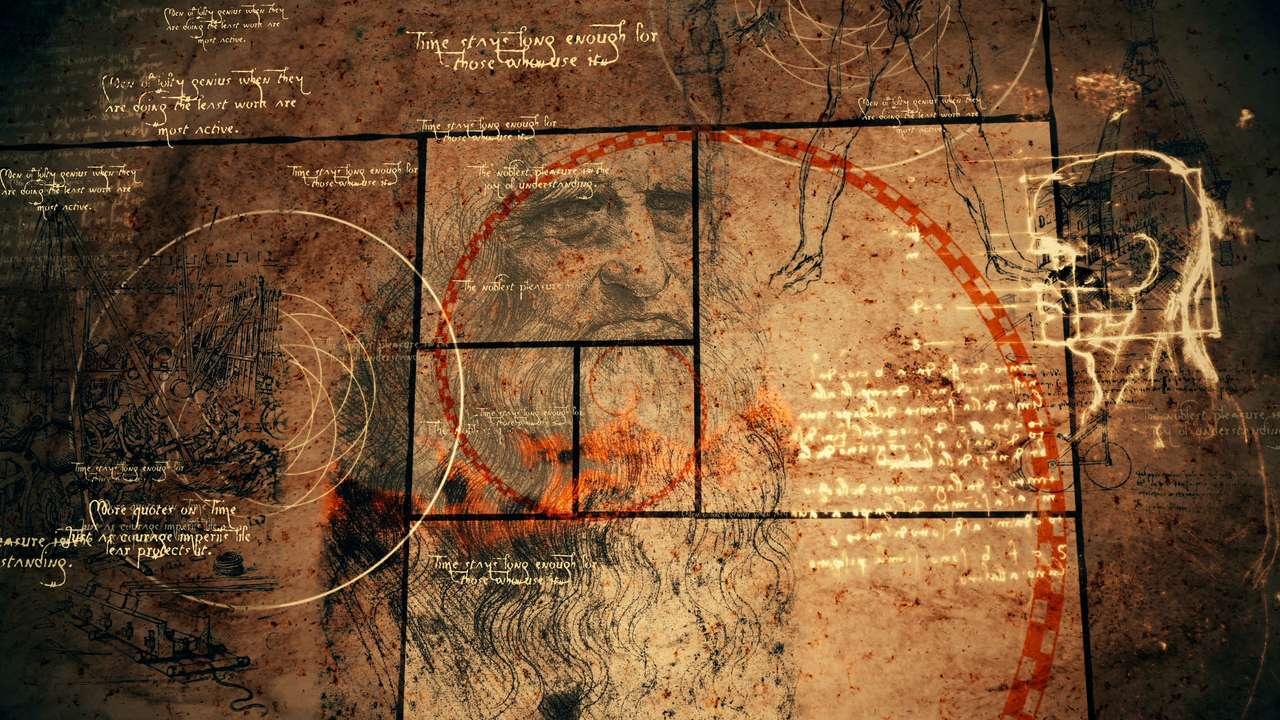 ilustracje Da Vinci puzzle