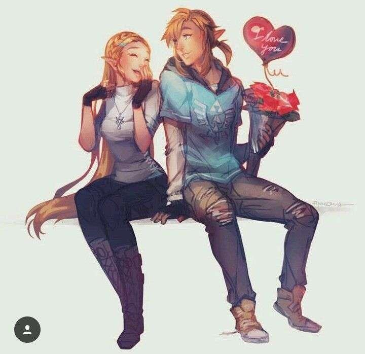 Zelda i link.