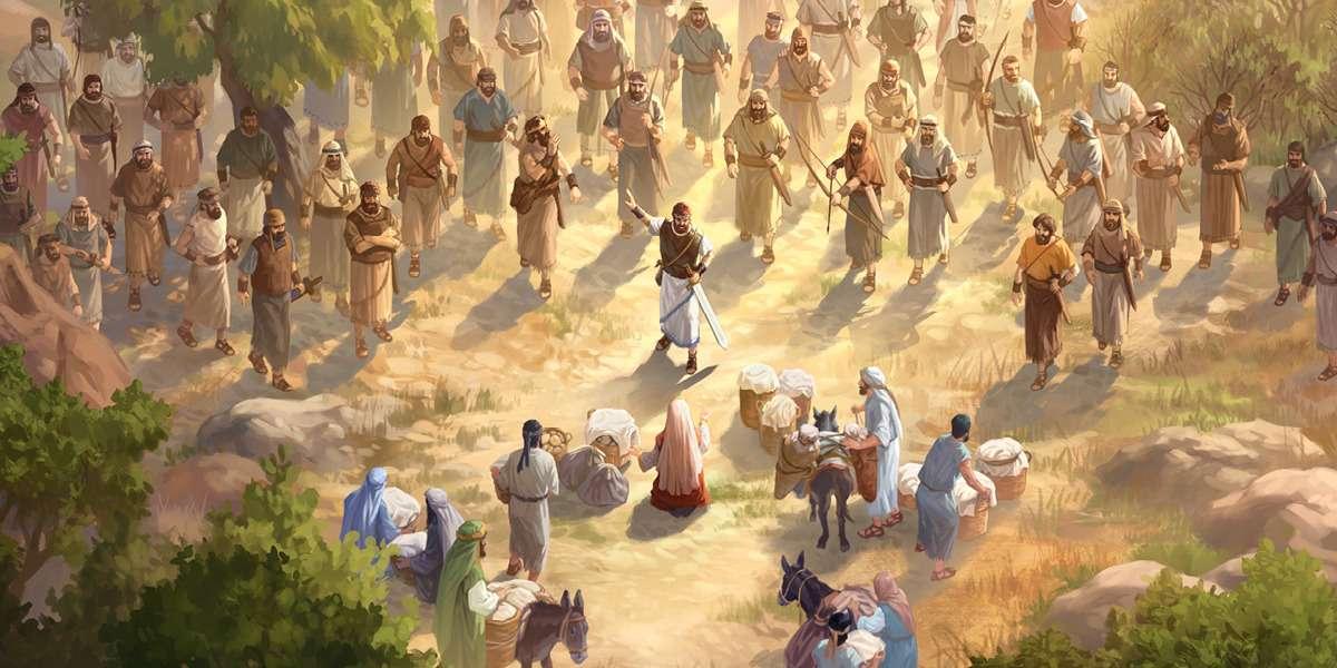 Abigail spotkał się z Davidem i jego ludźmi