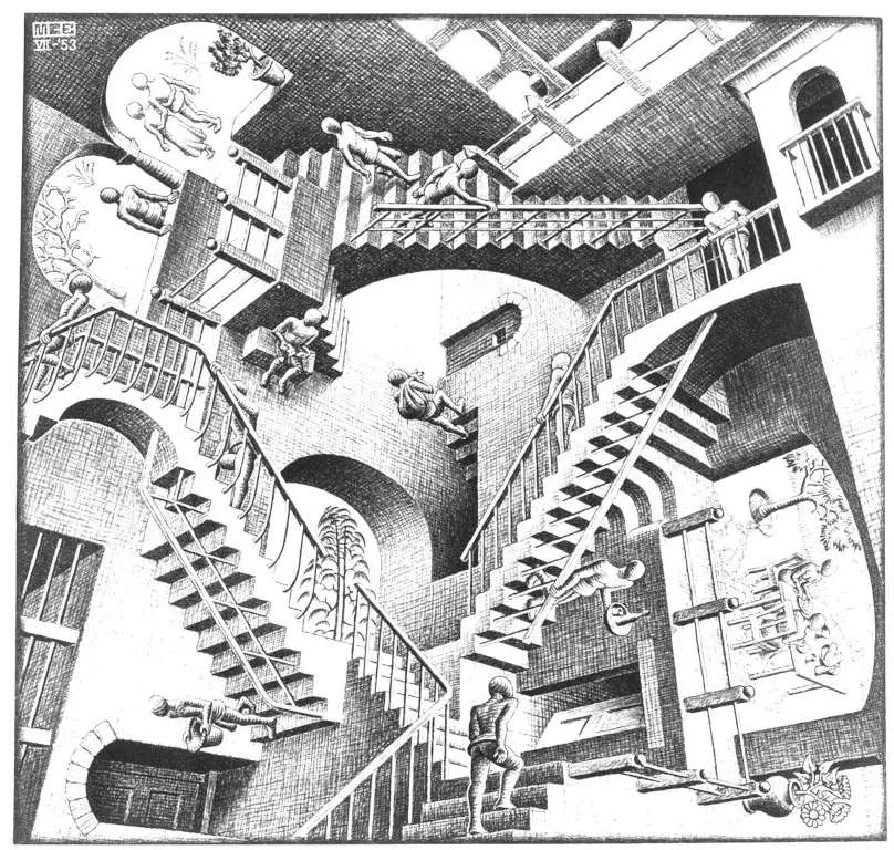 Escher- relatywność puzzle online