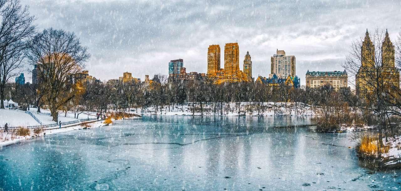 Nowy Jork w sniegu