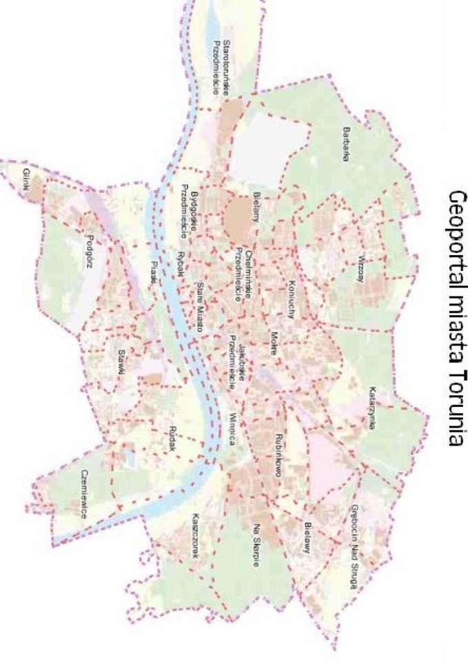 Mapa Torunia