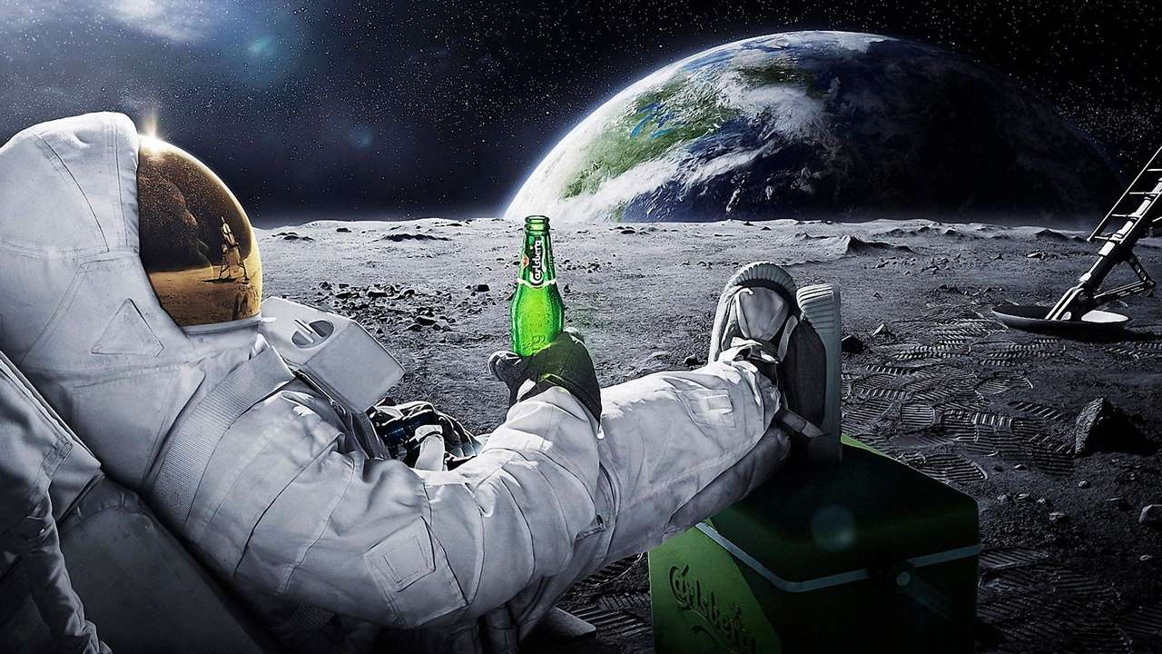 Astronauta Borrasho. puzzle