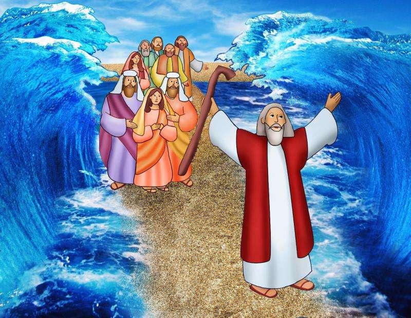 Mojżesz i morze.