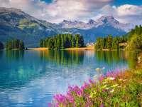 Champferesee Lake, Alpy
