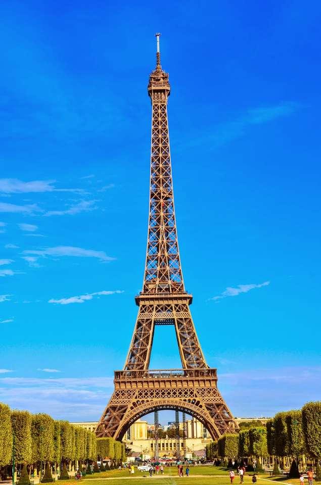 Wieża Eiffla puzzle ze zdjęcia