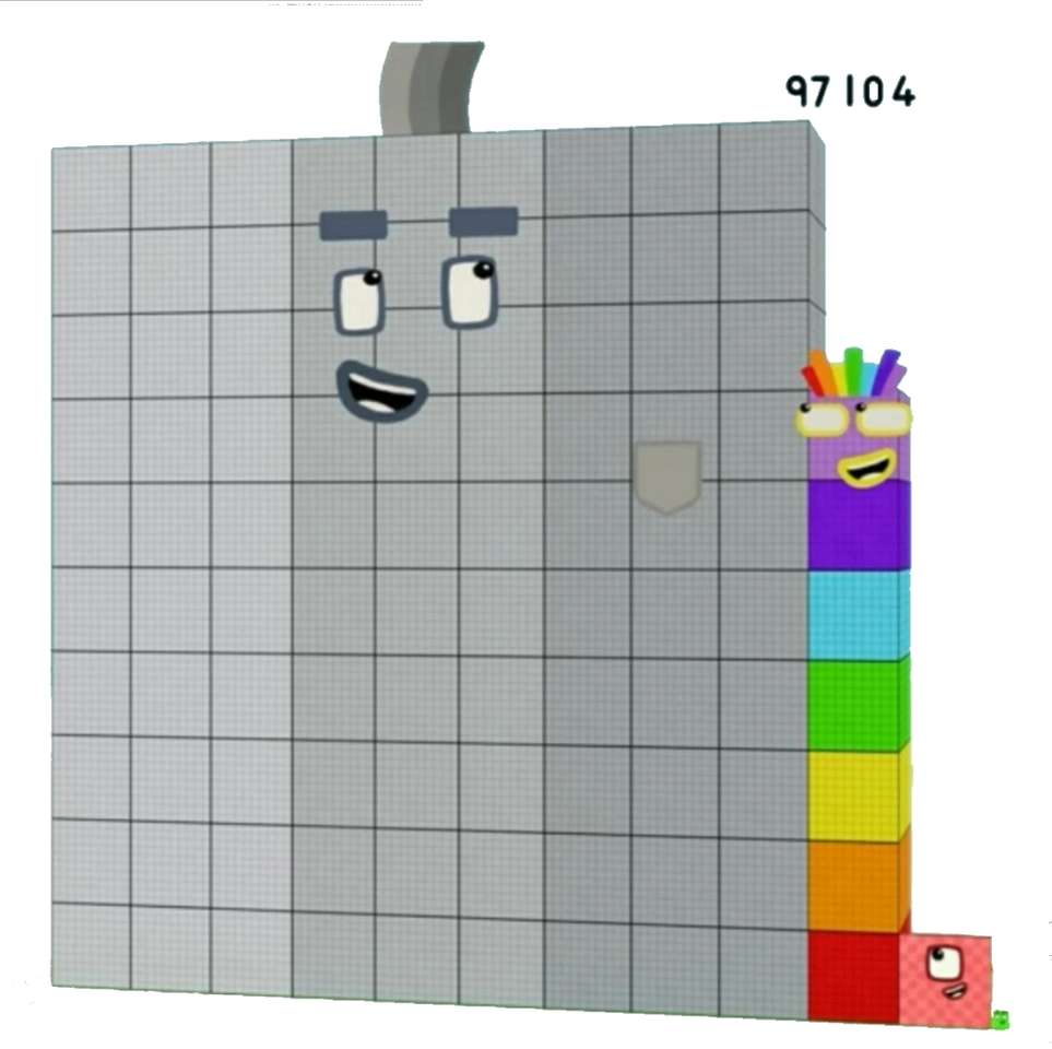 Numberblock Ninety-Seven Thousand One Hundred&Four