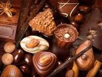 Słodycze czekoladowe praliny