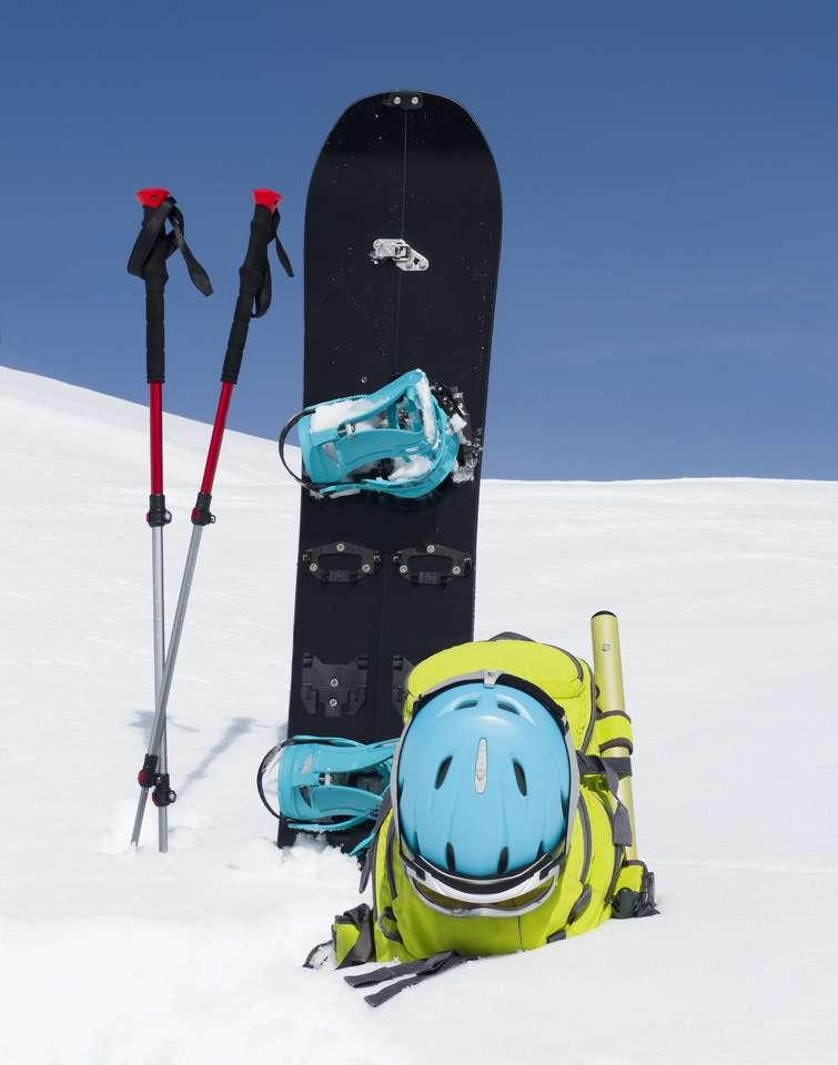 Snowboard, Polacy trekkingowe i plecak