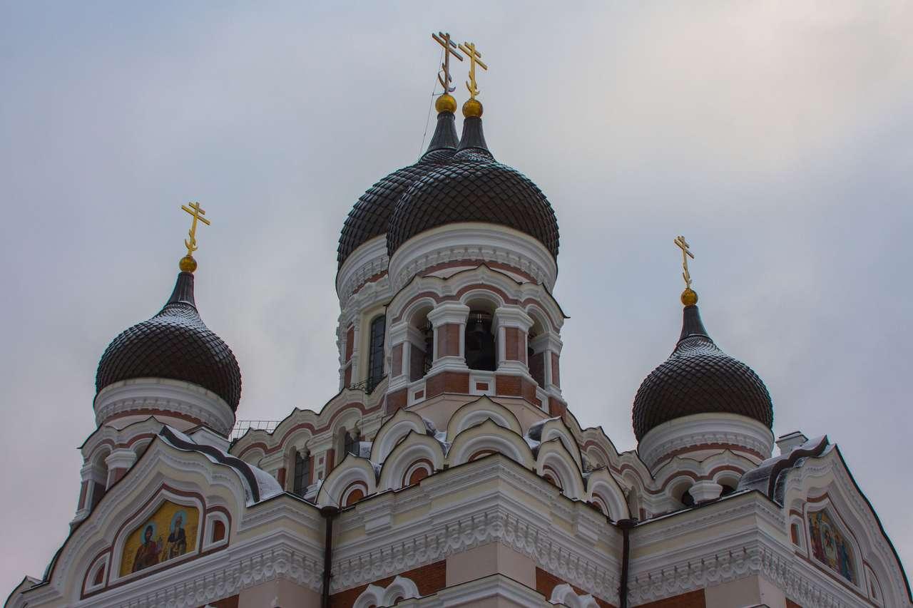 Widok katedry Aleksandra Newskiego puzzle ze zdjęcia